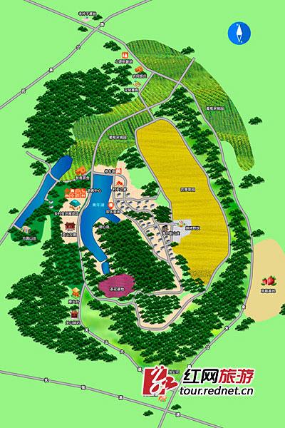 关山景区旅游线路图